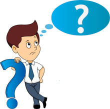 Man With Questionmark Thinking Clipart